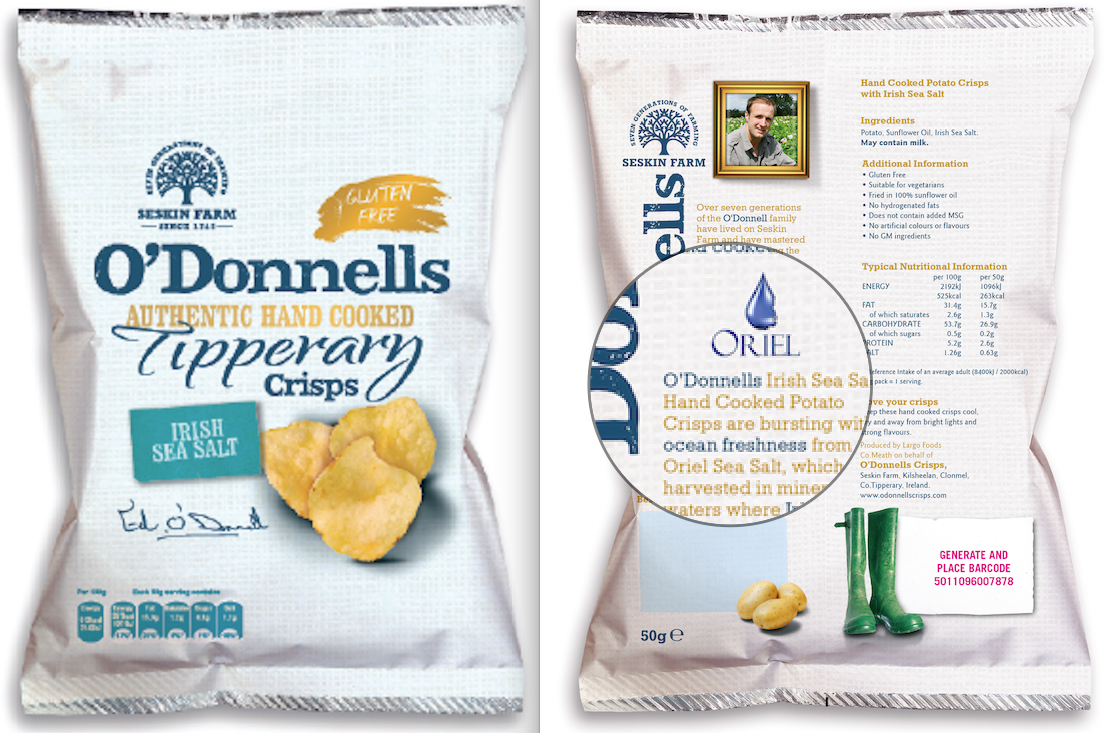 O'Donnells Crisps Irish Sea Salt